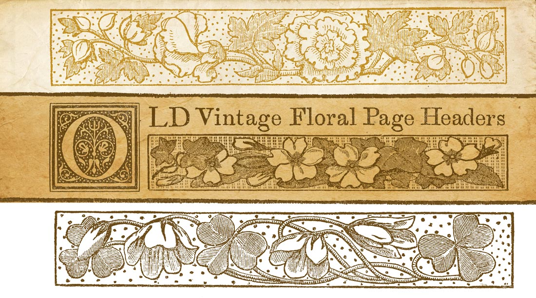 Free printable vintage floral graphics