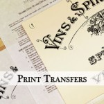 Water Decals - Print Transfers