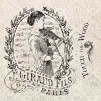 Old Fashioned French Lady with a Violin
