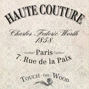 French Fashion Advert - Haute Couture