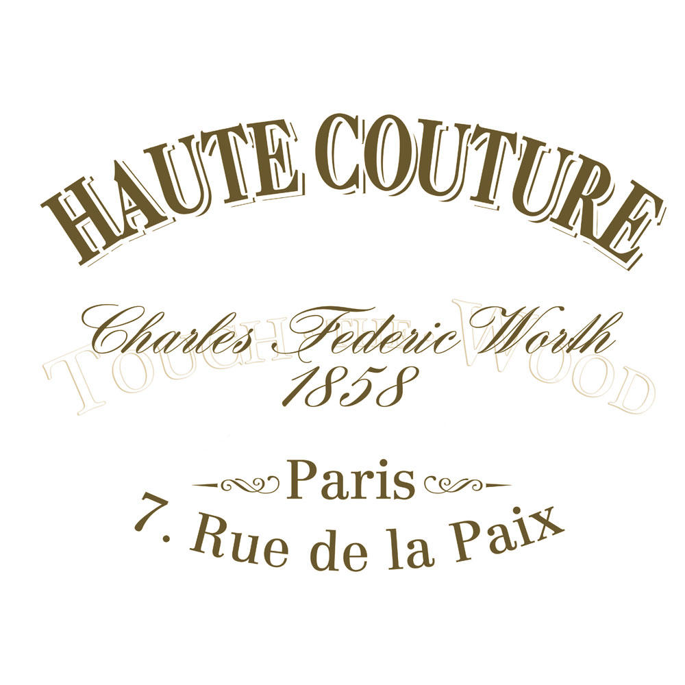 Water Decal ... - Water Decal Print Transfer - Haute Couture #006 - Touch The Wood