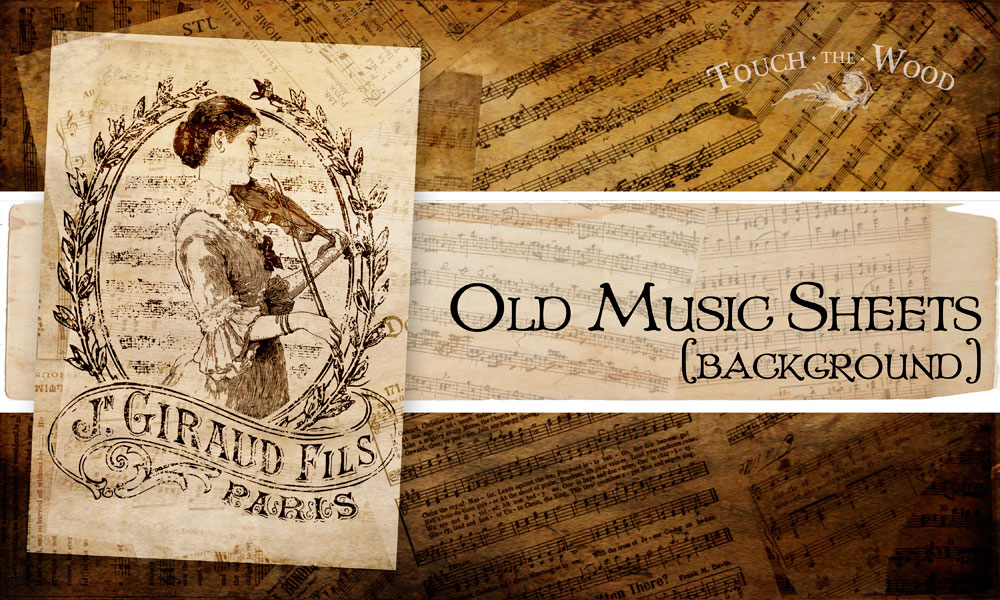 Free to download background - Old Music Sheets