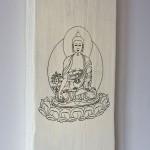 Shabby Chic Plaque - Tibetan Medicine Buddha