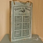 Shabby Chic Plaque - Vintage Calendar (Miss Lillian's Topsy Turvy 'Just Duckie' Paint)