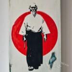 Shabby Chic Plaque - Morihei Ueshiba, Martial Arts AIKIDO Founder 02