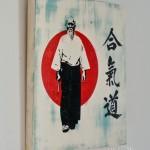Shabby Chic Plaque - Morihei Ueshiba, Martial Arts AIKIDO Founder 03