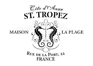 shabby chic stencil st. tropez vintage french advert for shabby chic projects