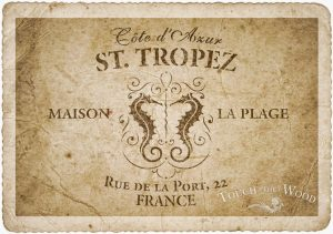 shabby chic stencil st. tropez vintage french advert for shabby chic projects old paper