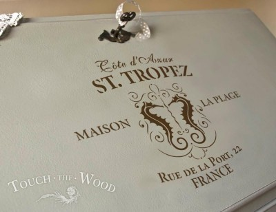 shabby chic stencil st. tropez vintage french advert for shabby chic projects bureau