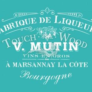 shabby chic stencil fabrique de liqueurs vintage french advert
