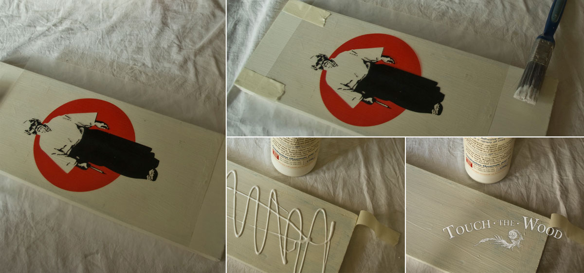 PVA Glue Print Transfer (Mod Podge Substitute) - Preparing the plank