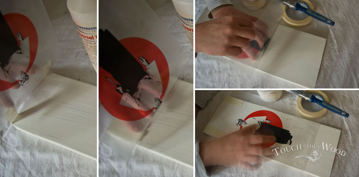 PVA Glue Print Transfer (Mod Podge Substitute) - Attaching the image