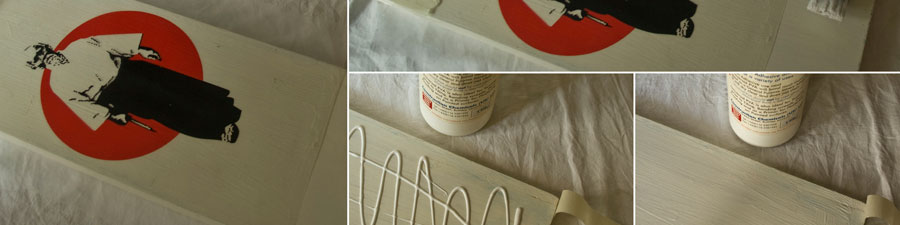 PVA glue - transfer print onto wood