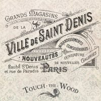 Vintage French Ville de Saint Denis Advert