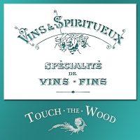 shabbby chic stencil - Vins & Spiritueux Vintage Advert
