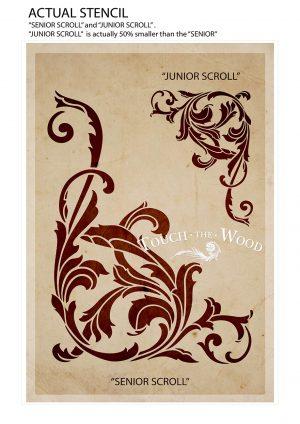 Vintage Corner Scroll - Acanthus Floral Orament Stencil