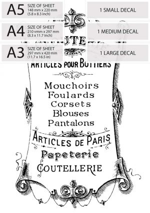 Articles de Paris Vintage French Advert