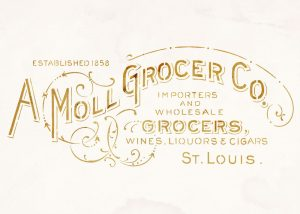 vintage grocery sign advert stencil