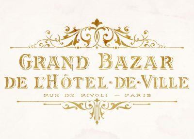 shabby chic stencil: vintage hotel de ville grand bazar