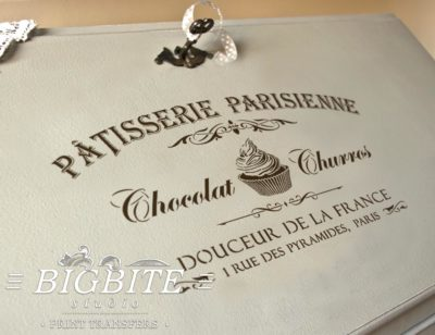 Preview of Vintage stencil French Patisserie Advert (bureau)