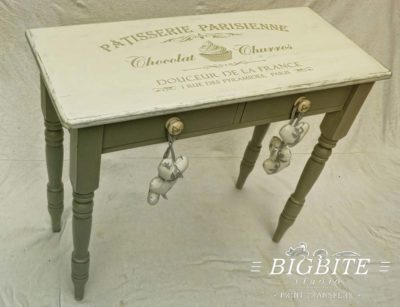Preview of Vintage stencil French Patisserie Advert (table)