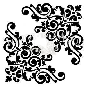 water decal print transfer for shabby chic projects - vintage corner scroll