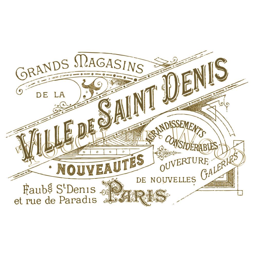 Water Decal Print Transfer Vintage French Ville De Saint