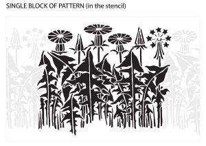 Wild Flowers: Bluebottle (Cornflower) Dandelion Pattern